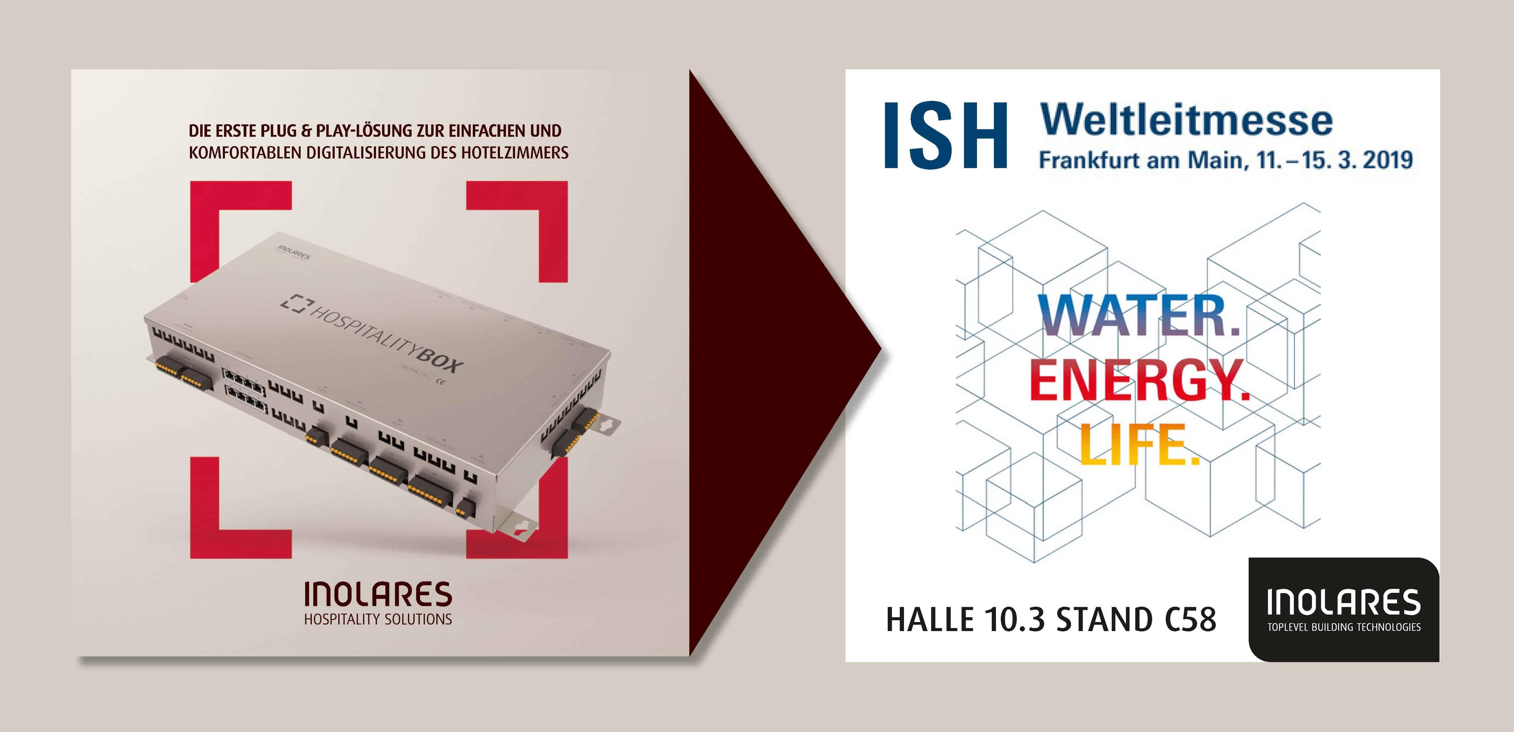 Inolares mit der Hospitality Box auf der ISH Weltleitmesse in Frankfurt 2019