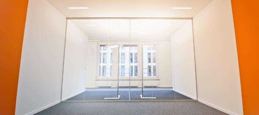 Die Büroräume des Berliner Think Tanks zur Förderung interdisziplinären und sektorübergreifenden Denkens im Beisheim Center am Potsdamer Platz